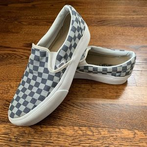 Vans denim platform slip on shoes